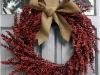 Burlap and Berry Wreath via lilblueboo.com