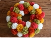 Retro Pom Pom Wreath via lilblueboo.com