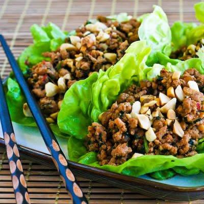 Turkey Asian Lettuce Wraps via lilblueboo.com