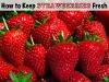 Keep Strawberries Fresh via lilblueboo.com