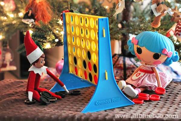 Game Playing Elf on the Shelf via lilblueboo.com