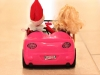 Cruising with Barbie Elf on the Shelf via lilblueboo.com