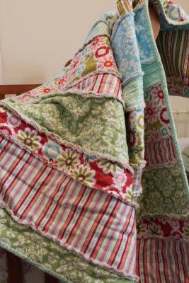Rag Quilt Tutorial via lilblueboo.com
