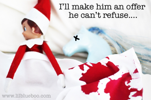 Godfather Elf on the Shelf via lilblueboo.com