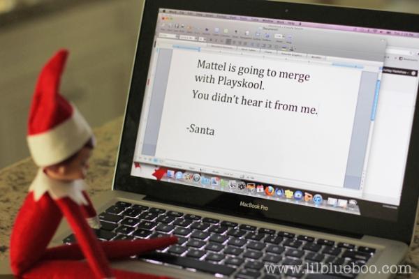 Insider Trading Elf on the Shelf via lilblueboo.com