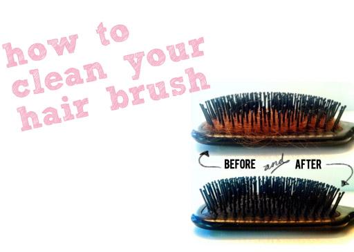 Random Beauty Tip: How to clean your hair brush via lilblueboo.com
