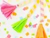 Cinco de Mayo Party Ideas: DIY Tassel Ice Cream Spoons via Studio DIY at lilblueboo.com