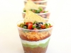 Cinco de Mayo Party Ideas: Individual Seven Layer Dip Appetizers via The Girl Who Ate Everything at lilblueboo.com