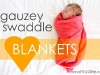 DIY Baby Gift Ideas: Gauze Swaddle Blankets by Made via lilblueboo.com