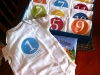 DIY Baby Gift Ideas: Monthly Onesies by Britt and her Boys via lilblueboo.com