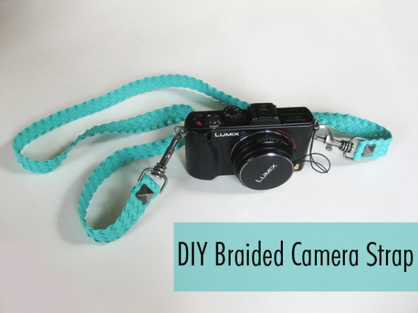 12 DIY Camera Strap Ideas: Braided Camera Strap at M&J Blog via lilblueboo.com
