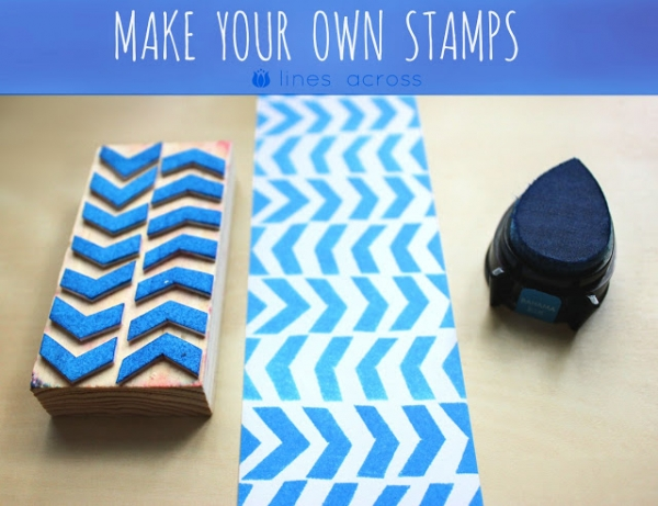 Craft Supplies you Can Make at Home: DIY Custom Stamps by Lines Across via lilblueboo.com