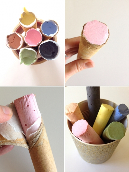 Craft Supplies you Can Make at Home: DIY Sidewalk Chalk at Playful Learning via lilblueboo.com
