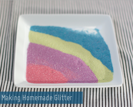 Craft Supplies you Can Make at Home: Homemade Glitter Recipe at Say Yes to Hoboken via lilblueboo.com