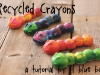 Craft Supplies you Can Make at Home: Recycled Crayons via lilblueboo.com