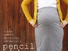 Pencil Skirt Maternity Tutorial via lilblueboo.com