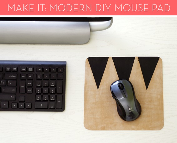 DIY Modern Geometric Leather Mouse Pad at Curbly via lilblueboo.com