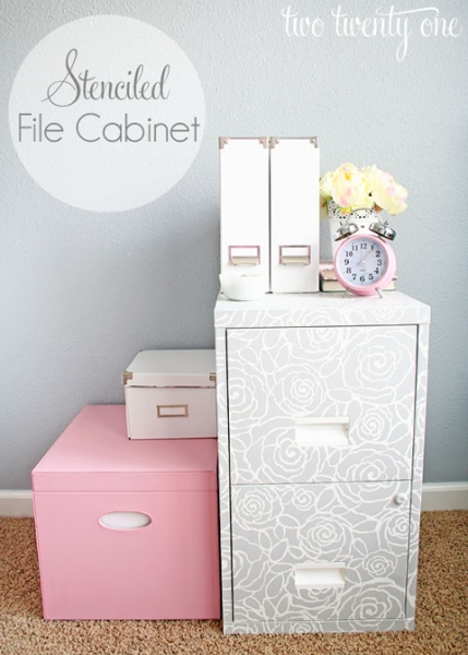 File Cabinet Makeover at IHeart Organizing via lilblueboo.com