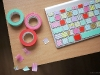 DIY Washi Tape Keyboard by Wedgienet via lilblueboo.com