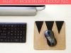 DIY Modern Geometric Leather Mouse Pad at Curbly via lilblueboo.com