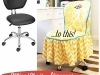 DIY Office Chair Slipcover at Positively Splendid via lilblueboo.com