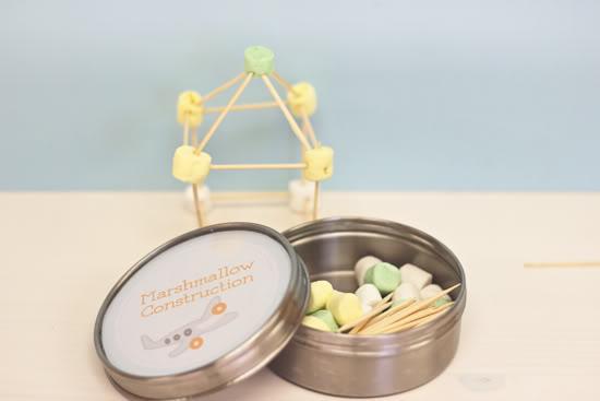 DIY Marshmallow Building Kit by Polkadot Prints via lilblueboo.com