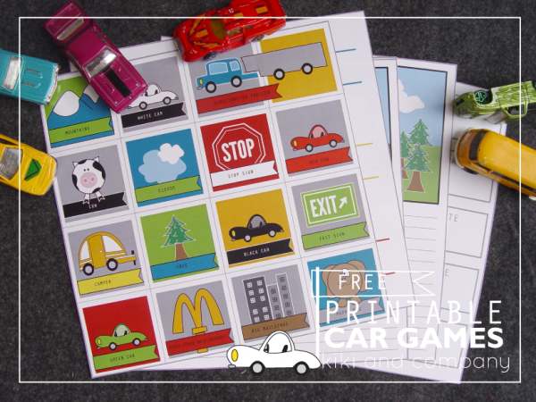 six free printable car games like i spy license plates by kiki and company via lilblueboo