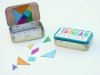 DIY Rainbow Magnetic DIY Travel Tangram by Delia Creates via lilblueboo.com