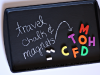 DIY Travel Chalk and Magnet Board by Sunny with a Chance of Sprinkles via lilblueboo.com