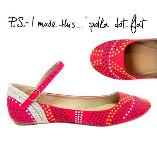 diy polka dot shoe update