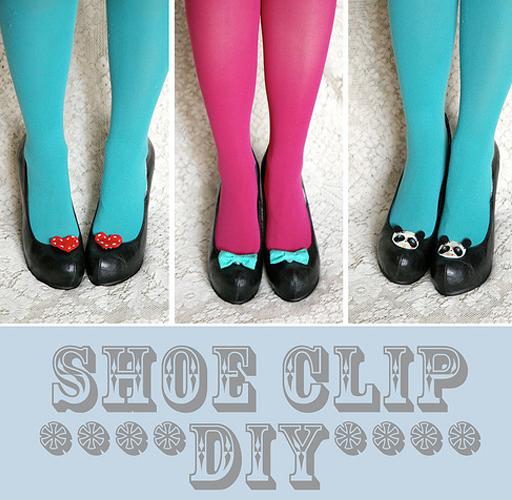 diy shoe clip tutorial via lilblueboo.com