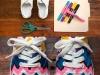 diy neon chevron shoe makeover via lilblueboo.com