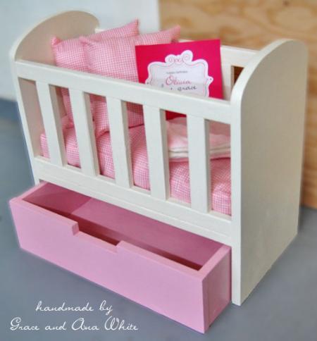 doll crib tutoria and plan from Ana White via lilblueboo.com