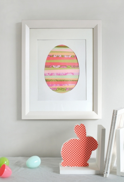 Paper Strip Easter Egg Art tutorial at Minted via lilblueboo.com