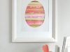 Paper Strip Easter Egg Art tutorial at Minted via lilblueboo.com