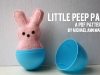 Little Bunny Peep Pattern and Tutorial by Michael Ann Made via lilblueboo.com