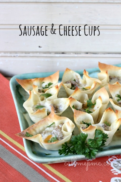 Easy Appetizer Idea: Sausage and Cheese Cups by Call Me PMC via lilblueboo.com