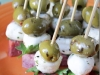 Easy Appetizer Idea:  Marinated Salami, Cheese and Green Olive by Yes, I Want Cake via lilblueboo.com