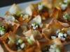 Easy Appetizer Idea: Cheddar Pumpkin Wonton Cups by Sundae Brunch via lilblueboo.com