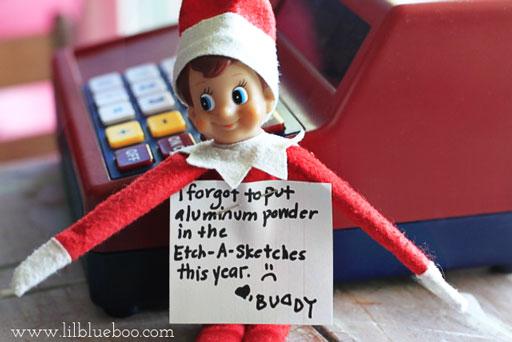 #elfshaming Elf on the Shelf via lilblueboo.com