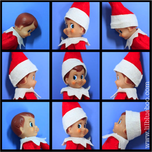 A BUNCH of Elves on the Shelf (Brady Bunch Elf on the Shelf) via lilblueboo.com #inappropiateelf #elfontheshelf #elf