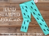 Hand Stamped Leggings Tutorial via lilblueboo.com