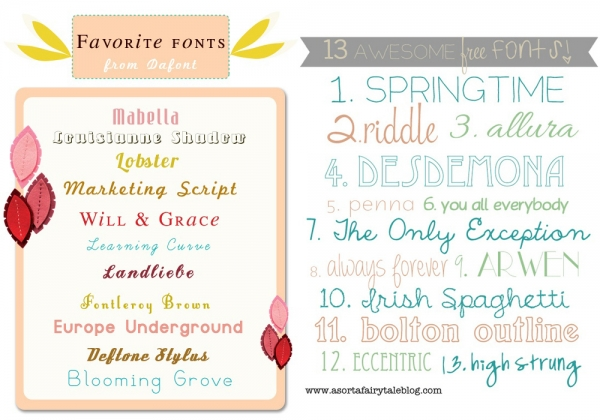 Font Roundups You Should Check Out from Maybe*Mej and A Sorta Fairytale via lilblueboo.com