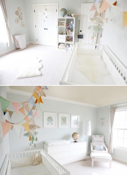 Vintage Gender Neutral Nursery by Christine of Simply Bloom Photography via lilblueboo.com