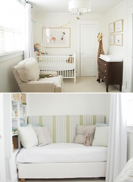 Gender Neutral Simple Nursery by Little House Blog via lilblueboo.com