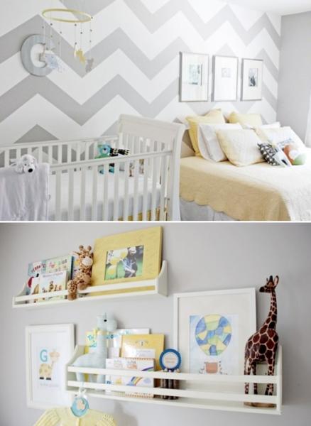 Gender Neutral Chevron Nursery by House 36 via lilblueboo.com