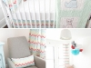 Gender Neutral Chevron Nursery at Chic and Cheap Nursery via lilblueboo.com