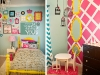 bright girls bedroom decor via lilblueboo.com