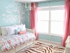 pink and teal girls bedroom decor via lilblueboo.com