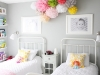 grey pink girls bedroom decor via lilblueboo.com